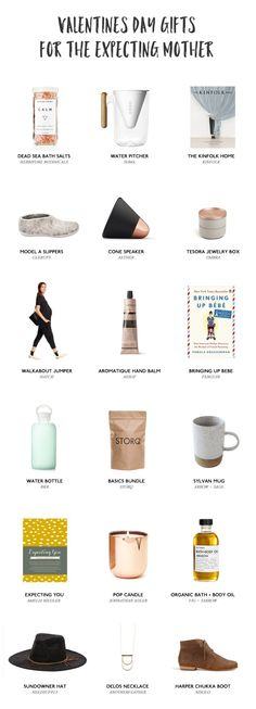 A Valentine's Day gift guide for expecting mothers that is full of ideas for her, not the baby on the way.