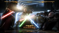 Epic dual and single light saber fight