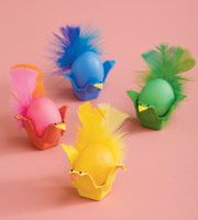 Fancy Feathered Friends from Family Fun  How Tweet! Add a little flair to your eggs by turning them into little birdies!
