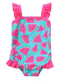 db45f6e89aa82 BeautyIn Baby Girls Cute Fruits Ruffle One Piece Swimming Costume Swimwear