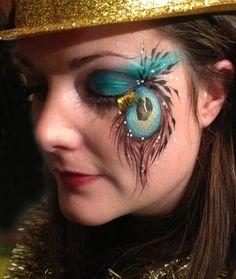 Peacock eye art