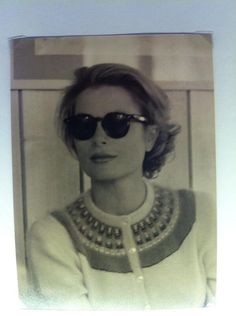 """anothergracekellyblog: """" Jess Cartner-Morley @JessC_M Great photo of Grace Kelly in Pringle's exhibition: her pieces, mixed with knitwear by CSM students inspired by her. pic.twitter.com/LthPMpPko0 ..."""