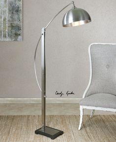 Malcolm Brushed Nickel Floor Lamp