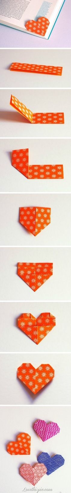 DIY bookmark hearts....such a cool, simple idea. Wish I'd thought of this!