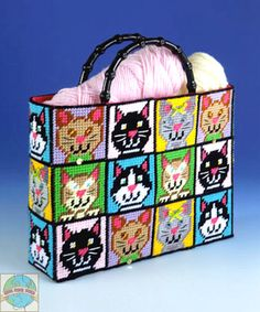 everything plastic canvas   Design Works - Cat Tote Bag - Cross Stitch World