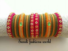 To order, pls what's app on wts up 9121010270 Silk Thread Jhumkas, Silk Thread Bangles Design, Silk Thread Necklace, Silk Bangles, Beaded Necklace Patterns, Bridal Bangles, Thread Jewellery, Jewelry Patterns, Beaded Jewelry