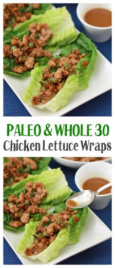 Chicken Lettuce Wrap - All the goodness of takeout made at home! These fresh, flavorful lettuce wraps are one of our favorite healthy meals. Paleo, and SO good!These fresh, flavorful lettuce wraps are one of our favorite healthy meals. Paleo, and SO good! Whole Food Recipes, Cooking Recipes, Healthy Recipes, Whole30 Recipes, Whole30 Chili, Meatless Whole 30 Recipes, Healthy Delicious Meals, Easy Paleo Meals, Whole 30 Meals
