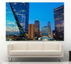 Dallas Night Skyline Wall Art Canvas Print Dallas Downtown Wall Art Print Dallas Cityscape Canvas Print Wall Art Dallas Print Dallas city by ArtWog Downtown Dallas Texas, Dallas City, Dallas Skyline, Canvas Wall Art, Wall Art Prints, Canvas Prints, Night Skyline, Thing 1, Office Wall Decor