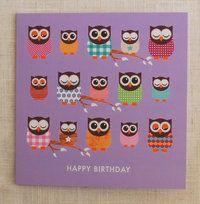 "Owl greetings card - ""give a hoot"" - The English Owl Company"