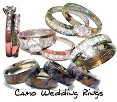 Camo wedding rings!!!