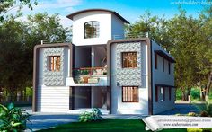 Single Curved Roof Top #ContemporaryHouse from #Kerala #House plans @ 2854 Sq-ft  Ground floor - 1443 sq.ft Hall Bedroom Pooja Bedroom attached Kitchen Mill area First floor (1411 sq.ft for 2 family use) One side Hall Bedroom attached Kitchen Other side Hall Bedroom Pooja Bedroom attached Kitchen Total : 2854 Sq.ft