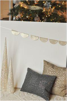 DIY Gold Glittery Backdrop