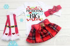 Big Sister Shirt Christmas Big Sister Outfit by NylaMarieKids