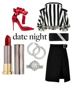 """""""Cheeky Chic"""" by discobubbles ❤ liked on Polyvore featuring storets, Urban Decay, Milly, Gianvito Rossi, GCGme and DateNight"""