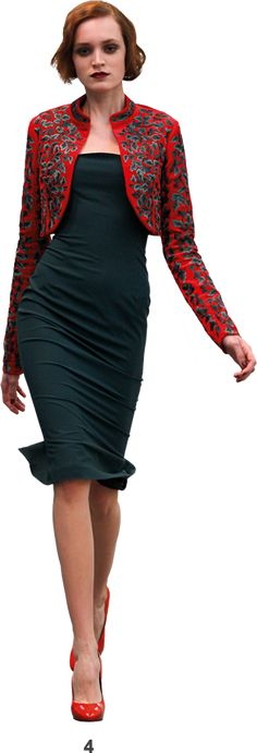 L'Wren Scott Fall 2009 Bois de Boulogne Collection.  This one reminds me of that amazing dress the Baroness wore in 'The Sound of Music'