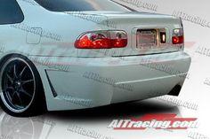 Honda Civic Rear Bumpers, Honda Civic 2/4 dr Zen Style Rear Bumper ...
