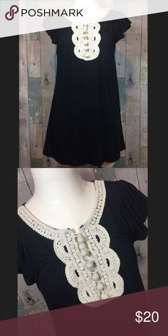 C Keer for Anthropologie top Excellent condition!! Crocheted at top. 28 inches in length. Chest measures 32 inches. Body 94% modal and 6% spandex. Smoke free and pet free home! Anthropologie Tops