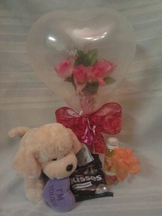 Valentine flower inside balloon....created by Niftygiftsbystacy