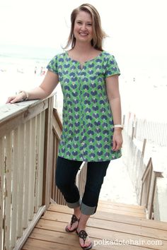 Diplomat Tunic from Lisette patterns (Lisette patterns are by Liesel Gibson who also makes the Oliver +S patterns).