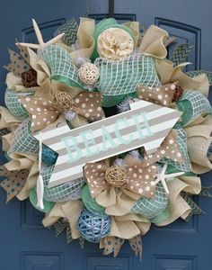 Summer Decor Mesh Wreath.