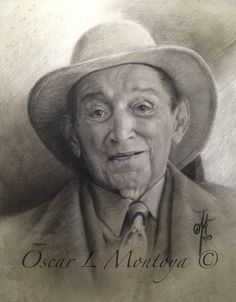 """""""Rafael Escalona"""" Life Size. Charcoal and White Chock on toned paper. 16"""" x 20"""""""