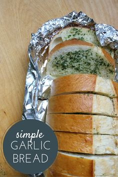 This is the easiest and most delicious simple garlic bread recipe. It also costs less than store bought! I had everything on hand but the bread!