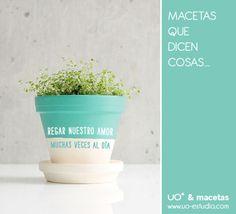 Macetas que dicen cosas, designed by studio uo* Diy Flowers, Flower Pots, Flower Pot Design, Mini Cactus, Design Consultant, Diy Paper, Planting Flowers, Diy And Crafts, Succulents