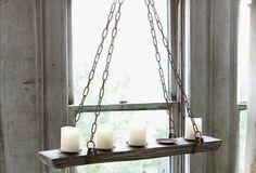 Refectory Hanging Candelabra~LINEAR CHANDELIER ~Vintage Style Barn Wedding
