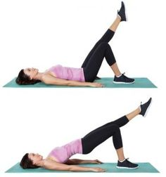 single leg glute bridge