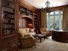 Get inspired by Traditional Office Design photo by Design Concepts Interiors. Wayfair lets you find the designer products in the photo and get ideas from thousands of other Traditional Office Design photos. Study Room Design, Home Library Design, Home Office Design, House Design, Study Space, Study Rooms, Office Designs, Library Ideas, Garden Design