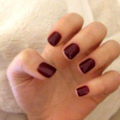 Red nails shellac maroon nails wine nails gel nails deep nails decadence nails