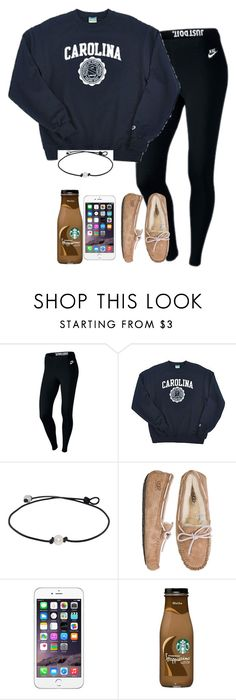 """••Jackelin"" by southern-prep-gals ❤ liked on Polyvore featuring NIKE, Champion and UGG Australia"