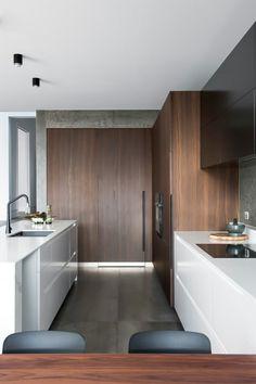 #Küche Marmor Küche Mit Beton Wand Mit Effektvollem Muster #Marmor #Küche  #mit