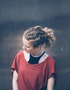 Cornrows into ponytail