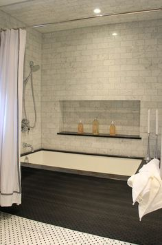 appealing modern bathroom tile designs   Rough opening for a drop in tub   For the Home   Pinterest