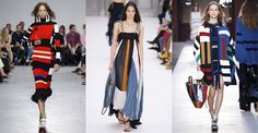 Spring/Summer 2018 Fashion Trends that Conquered Fashion Week - New Best Fashion 2017 Fashion Outfits, Fashion Week, Fashion Trends, Sonia Rykiel, Stripes Fashion, Color Fashion, Apparel Design, Lingerie, Spring Summer Fashion