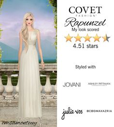 Rapunzel Rapunzel @covetfashion #covet #covetfashion #covetfashionapp #fashion #covetfall2015 #fall2015 #womensfashion #rapunzel #Jovani #AshleyPittman #JulieVos