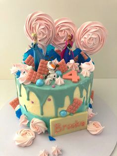 Frozen, but with a variety of colours in addition to blue.   Order celebration cakes, designed and freshly made in Shoreham-by-Sea, Brighton and surrounding areas. Brighton And Hove, Celebration Cakes, Wedding Cakes, Finding Yourself, Frozen, Birthdays, Birthday Cake, Colours, Sea