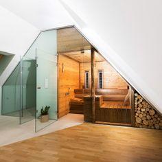 sauna glasfront mit dachschr ge sauna pinterest badrum. Black Bedroom Furniture Sets. Home Design Ideas