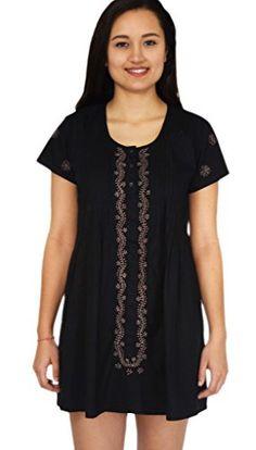 LILY Long Plaket Dress: Taupe on Black: XS Ayurvastram