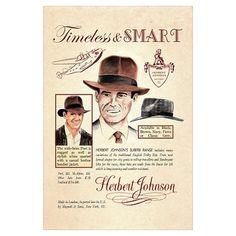 Herbert Johnson Fedora poster... Indiana Jones 60e5c0aac17d