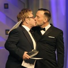 Elton John has legally married his partner David Furnish, on the ninth anniversary of their civil partnership in 2005. Re-pinned by Woolton & Hewitt specialists in gay & lesbian engagement & wedding rings www.wooltonandhewitt.co.uk