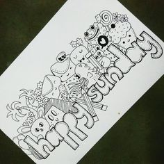 Happy Sunday Buddies  Watch making of this doodle on my YouTube channel.. Visit Link in bio  youtube.com/c/snowkitty  #doodle #doodleart #art #drawing #happy #sunday #snowkitty #draw