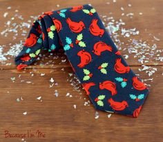 Boys Christmas Bird Necktie, $17, click now to purchase, save 10% with coupon code PIN10