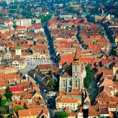 Brasov, Romania - Black Church, Aerial View