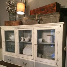 KAS vintage finds and designs - re-invented farmhouse hutch