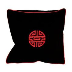 Chinese Cushion Cover - Symbol Of Long Life Design