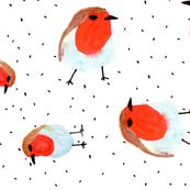 Watercolor Robin custom fabric by brokkoletti for sale on Spoonflower Watercolor Techniques, Surface Design, Creative Business, Custom Fabric, Fabric Crafts, Spoonflower, Robin, Rooster, Craft Projects