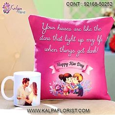 Valentine Day Gift Personalized - Send peronalised gifts on Valentine from Kalpa Florist. Order Valentine customized gifts online for same day delivery. Valentines Day Gifts Boyfriends, Boyfriend Gifts, Valentine Day Gifts, Happy Kiss Day, Personalized Mugs, Online Gifts, Customized Gifts, Valentino, Delivery