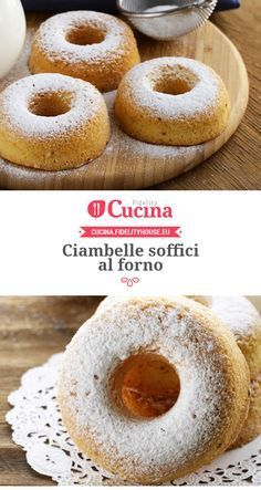 #Ciambelle soffici al forno Donut Recipes, Cookie Recipes, Dessert Recipes, Italian Dishes, Italian Recipes, Nutella, Sweet Cooking, Cupcakes, Biscuit Recipe